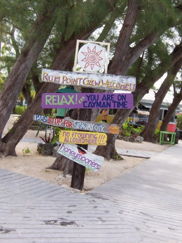 They like signposts at Rum Point!
